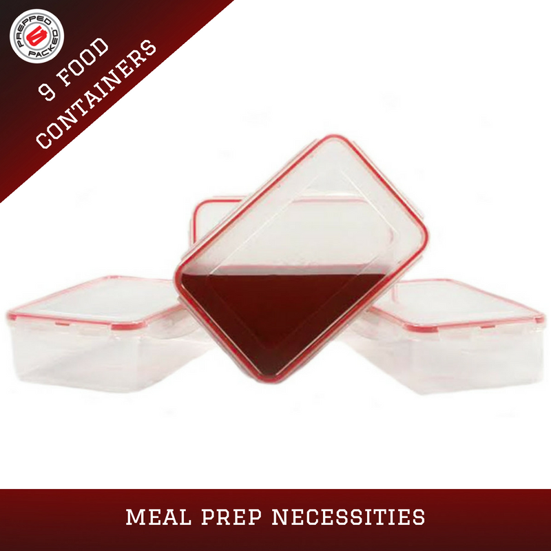 prepped & packed food containers