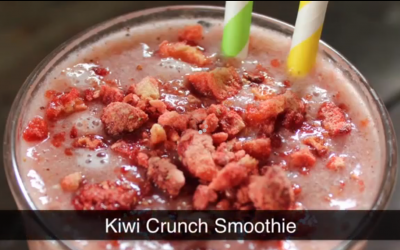 Start the day with a quick Prepped & Packed smoothie – Kiwi Crunch Smoothie