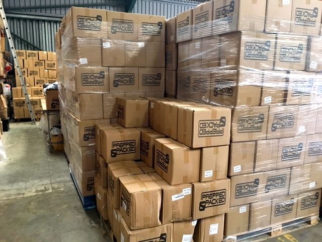 Here's just a snippet of our warehouse stocking over 8,000 units at any one time.