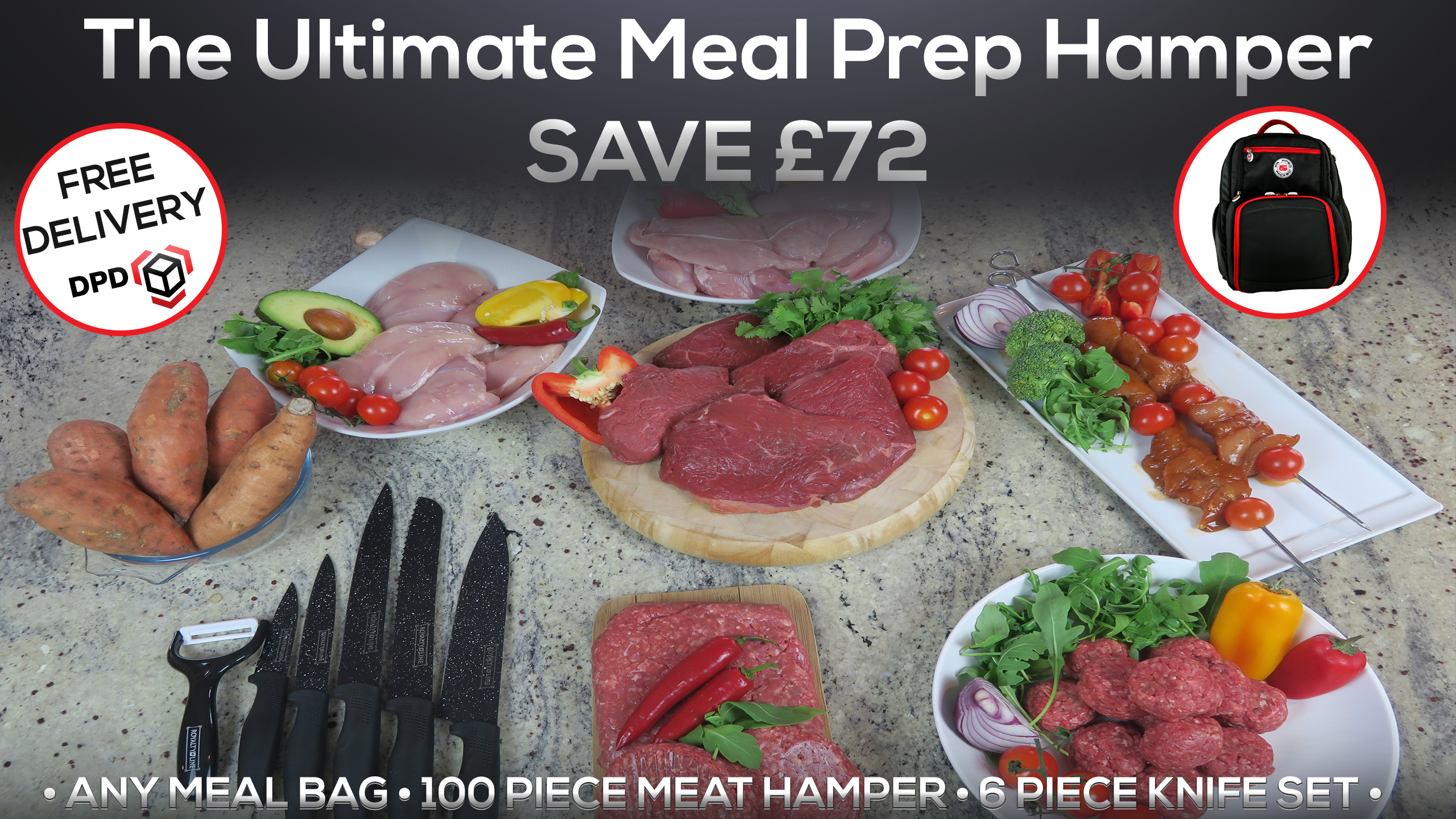 The Ultimate Meal Prep Hamper Prepped & Packed