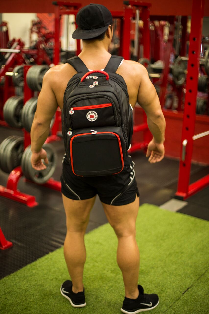Tony sporting his Prepped & Packed Zeus backpack